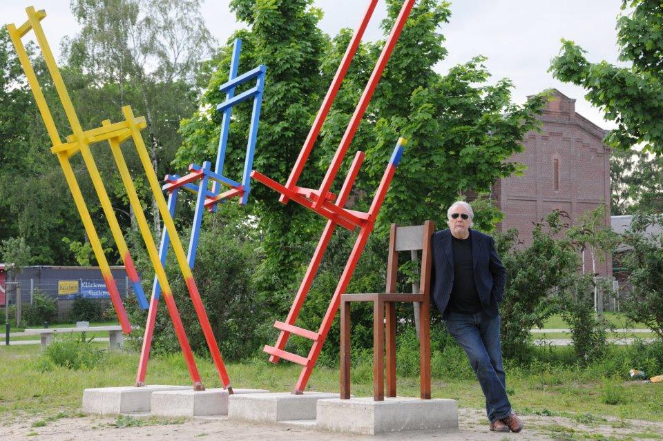 WV-Nr 38_2_a Wer rastet der rostet, Skulptur 4.50 x 6m, Skulpturenpark Zeche Unser Fritz, Herne, 2012.